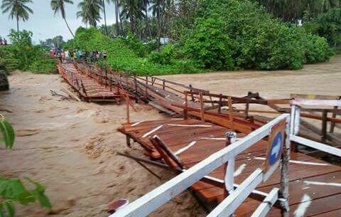 Kondisi Jembatan Patah di Obi Halmahera Makin Parah