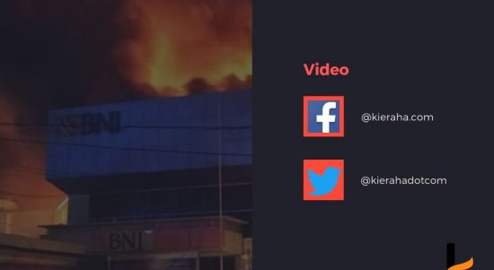 Video Bank BNI Cabang Ternate Terbakar