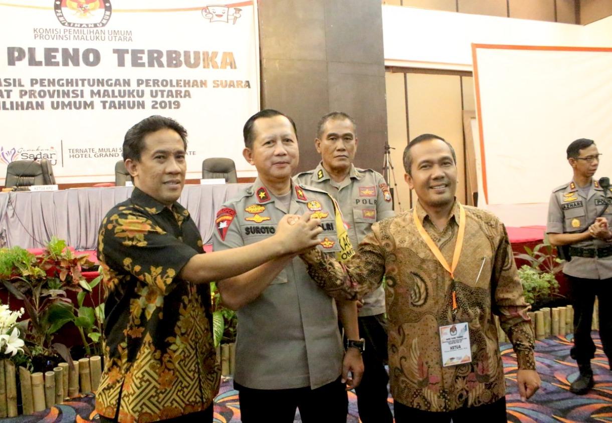 Rekapitulasi Suara Pemilu 2019 di Maluku Utara Tuntas