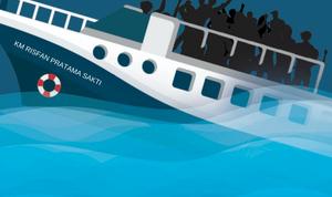 Kapal dari Taliabu Tujuan Luwuk Tenggelam di Laut Perairan Banggai