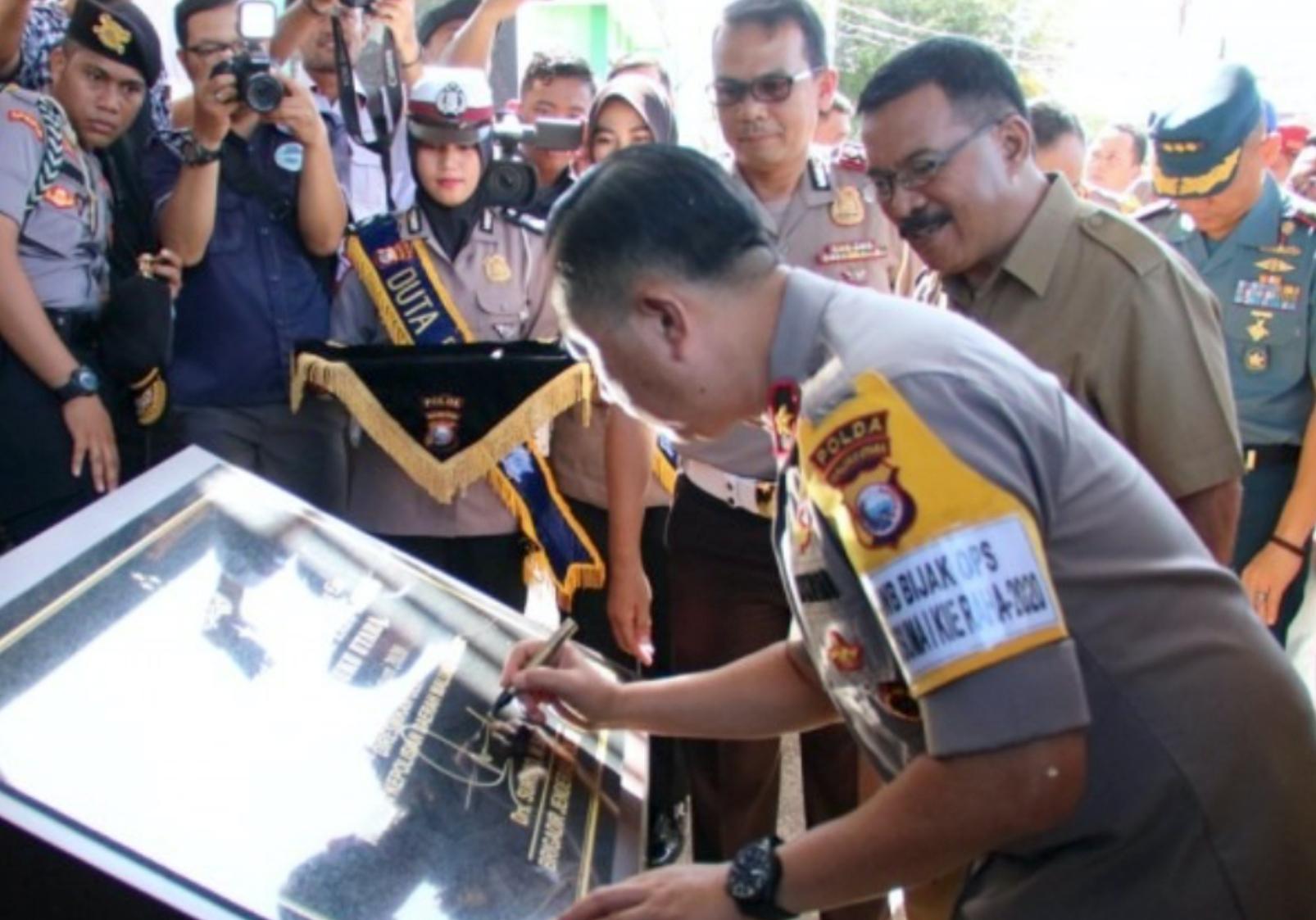 Kapolda Maluku Utara Resmikan Gedung RTMC