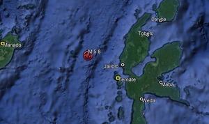 Dampak Gempa 5,8 M di Ternate Maluku Utara