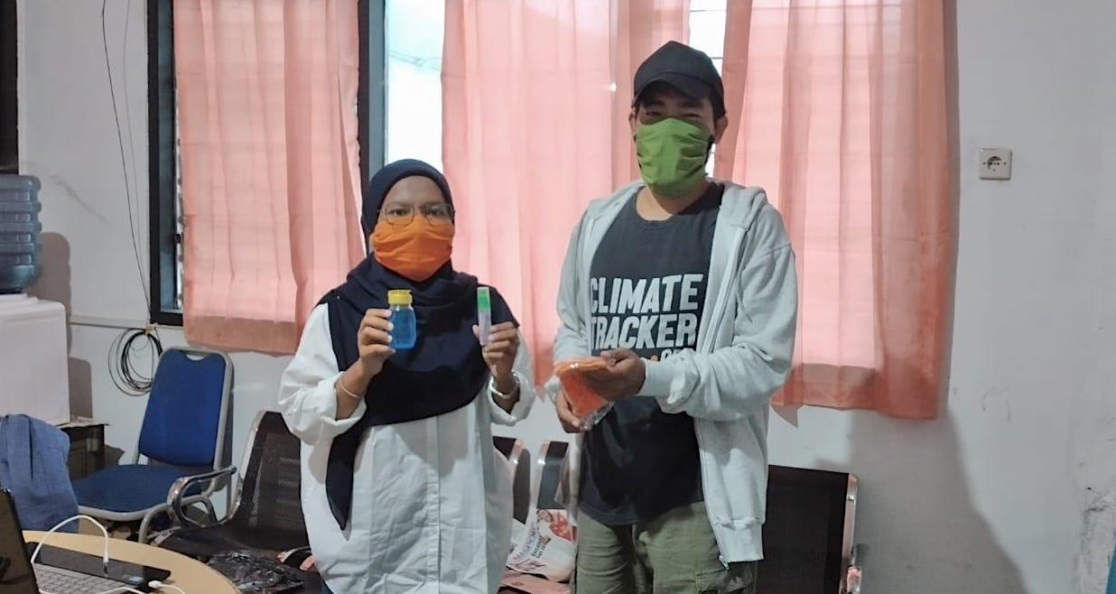 AJI Ternate Salurkan Masker dan Hand Sanitizer Untuk Cegah Penularan Covid