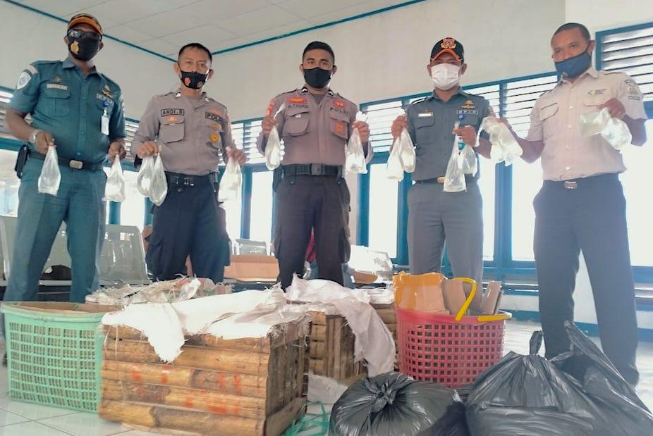 KP3 Jailolo Gagalkan 360 Kantong Captikus yang Akan Dipasok ke Ternate