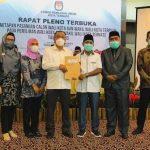 KPU Ternate Pleno Penetapan Wali Kota dan Wakil Walikota Terpilih