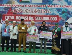 Masyarakat Maluku Utara untuk Palestina Resmi Serahkan Donasi Rp 500 Juta