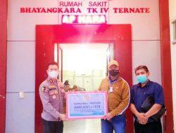 RS Bhayangkara Ternate Terima Bantuan 1.000 Unit Alat Tes Corona