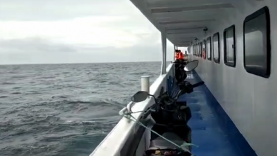 Video Dramatis Penumpang Kapal Simba yang Dievakuasi ke Sanana