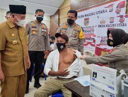 Gubernur dan Kapolda Maluku Utara Pantau Vaksinasi Akpol 1997 di Ternate